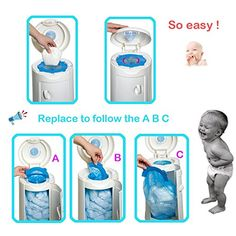 Seal and Toss Refill Bags Diaper Pail Refill Bags 1020 Counts 34 Bags Cheapest