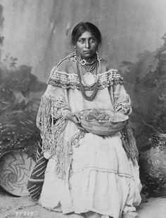 Apache Indian Bride in Wedding Dress