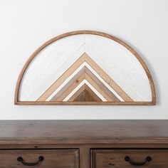 Semi Circle Carved Wooden Wall Plaque from Kirkland's