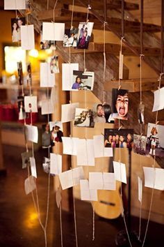 great picture idea for displaying loved ones pictures at your wedding!