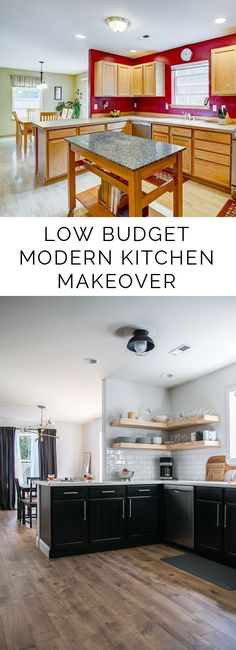 Give your home some sweet sweat EQUITY with this gorgeous LOW BUDGET modern kitchen makeover on Petite Modern Life