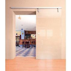 Designer sliding door gear for glass doors