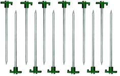 Generic NV_1008002637_YCUS2 opperuty Metal Tent Canopy Metal New 12pc Heavy Cano Stakes Pegs 10  akes Duty STEEL 10  Green Stopper New 12p -- Visit the image link more details.