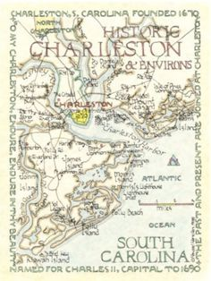 Looking for some cool art from Charleston to commemorate our engagement near Shem Creek last month. Check this out! | Charleston & Environs, S.C. 12x16 | LFF Designs | www.facebook.com/LFFdesigns