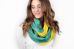 infinity scarf color block brown polka dot cotton by gertiebaxter, $27.50