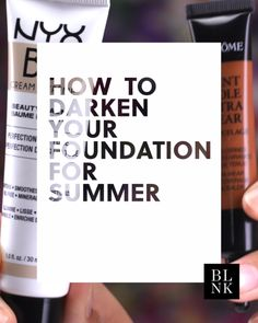Hold up—you don't have to buy new foundation to match your summertime glow. hacks for teens girl should know acne eyeliner for hair makeup skincare Makeup Videos, Makeup Tips, Makeup Hacks, Hair Hacks, Drugstore Makeup, Contour Makeup, Skin Makeup, Makeup Lessons, Workout Videos