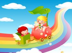 Resultado de imagen para fondos de arcoiris infantiles