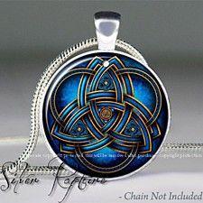 Celtic Triquetra pendant, Celtic Goddess necklace resin pendant, pagan Jewelry