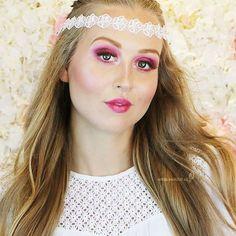 : Another shot from the spring romantic look 💕  لقطة أخرى للوك الربيعي 💕 . #springmakeup #makeupartistsworldwide #makeupartist #makeupartistuae #uaemakeupartists #nyxcosmetics #nyxarabia #floral #inspitation #photoshoot #romanticmakeup #romanticlook #fairytail #makeupvideo #makeuptutorials