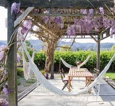 31 Heavenly outdoor hammock ideas making the most of summer #outdoors #outdoorliving #hammock #louge #garden