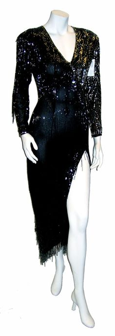 totally fabulous 1990's vintage Bob Mackie beaded gown
