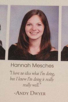 """This senior quote: 