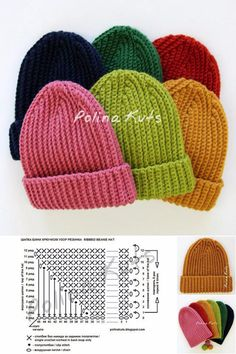 Ravelry: Neat top hat pattern by Polina Kuts Crochet Men, Crochet Slouchy Hat, Crochet Baby, Knitted Hats, Free Crochet, Ribbed Crochet, Quick Crochet Patterns, Knitting Patterns, Beanie Pattern