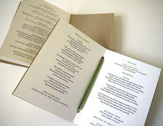Rustic Order of Service Wedding Program / 'Vintage Wreath' Pocket-sized Elegant Wedding Booklet / Recycled Kraft Brown Card / ONE SAMPLE Wedding Programs Vintage, Wedding Booklet, Wedding Stationery, Wedding Invitations, Wedding Order, Our Wedding, Wedding Bells, Perfect Wedding, Dream Wedding