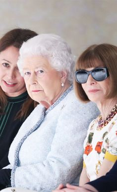 The Queen just attended London Fashion Week for the first time, watching Richard Quinn next to Anna Wintour. Click to see the amazing pictures!