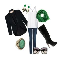 I love basics with a pop of color :)