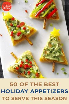 50 of the Best Holiday Appetizers to Serve This Season Best Holiday Appetizers, Holiday Fun, Holiday Recipes, Marinated Olives, Marinated Shrimp, Bacon Jam, Holiday Side Dishes, Crab Cakes, Side Dish Recipes