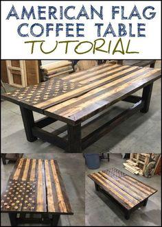 865b01b52e4 American flag rustic coffee table