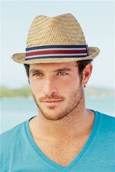 Buy Stripe Band Straw Trilby from the Next UK online shop Summer Outfits For Moms, Casual Summer Outfits, Curvy Outfits, Mom Outfits, Classy Street Style, Men's Beanies, Trilby Hat, Latest Handbags, Next Fashion