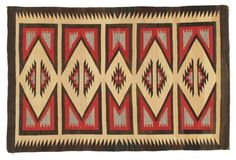 """Antique Navajo Rug, 3'9"""" x 5'10"""""""