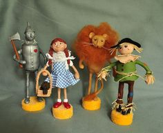 Wizard of Oz Character Art Doll Figurines Set of 4 by Lisa J. Ammerman, A Piece of Lisa