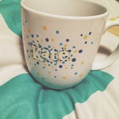 My mug project of the evening was a success! Here are the instructions! #diy #mug #sharpiemug