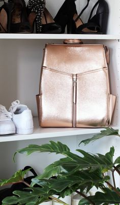 MY NEW ROSE GOLD BACKPACK