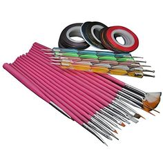15pcs Nail Art Brush  32Pcs Nail Striping Tape  5Pcs 2way Dotting Pen Marbleizing Tool Nail Painting Kit Set 1 -- See this great product.Note:It is affiliate link to Amazon.