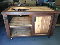 Bare Bones Grill & Chill Table  Big Green Egg by RusticWoodWorx