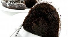 Skinny Double Dark Chocolate Chip Bundt Cake