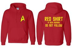Red Shirt Crewmen - Star Trek Inspired Hoodie