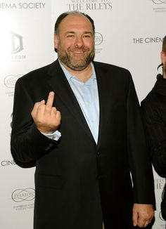 "James Gandolfini. This is not meant for the ""pin-po"". :)"