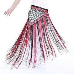 $16.11 Bicolor-Argentina-Crochet-Long-Fringe-Belly-Dance-Hip-Scarf-Shawl-13-Colors