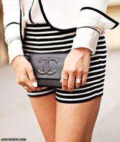 Chanel fashion black and white black white elegant chanel stylish