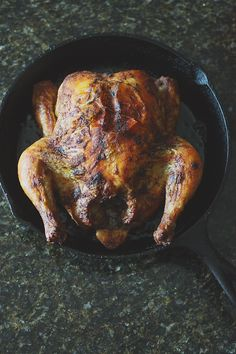 Roast chicken in cast iron... I have to try this.