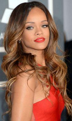 Rihanna .. Hair I think I going to do this hair dye next