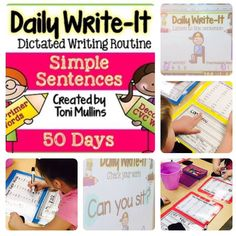 Daily Write-It: Simple Sentence Dictated Writing Routine. Looking for a way to help your little ones master those sentence writing skills such as capitalization, punctuation use, spacing and writing/reading fluency? Dictated sentence writing is the answer! My students love this routine so much, they never let me forget it! This is the BEST WAY to practice sentence writing each day!