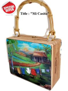 The most popular handbag cigar box purses in Florida. Made with original cigar boxes and embellished with beautiful art. No two purses are the same. These handmade cigar box purses have bamboo, plastic or wood handles. Cigar Box Projects, Cigar Box Crafts, Craft Projects, Cigar Box Purse, Wooden Cigar Boxes, Cuban Art, Popular Handbags, Altered Boxes, Mother Gifts