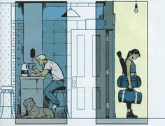Kate Bishop heads out in Hawkeye by Matt Fraction and David Aja.    I just absolutely adore Aja's artwork in these comics.