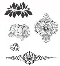 Small lotus tattoo---like the second from the bottom