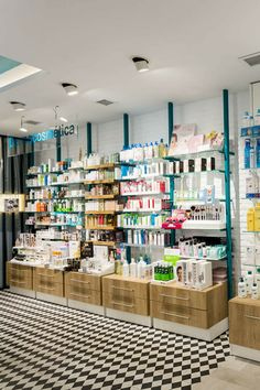 Black Beauty Supply, Tea Display, Pharmacy Store, Retail Shelving, Shop Fittings, Store Interiors, Coffee Shop Design, Beauty Shop, Store Fronts