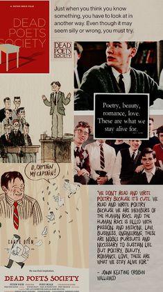 Journal. Pinterest:Zareen Raisa Dead Poets Society Quotes, Movie Collage, Oh Captain My Captain, Robert Sean Leonard, Film Studies, Film Serie, Film Quotes, Series Movies, Good Movies