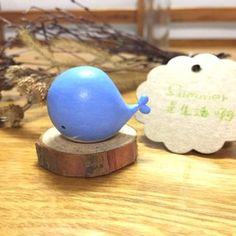 手工制品动物桌面摆件生日礼物家居饰品小蓝鲸粘土DIY萌物满包邮的图片