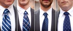 Like the idea of having all of the guys wear different ties with the same color scheme.