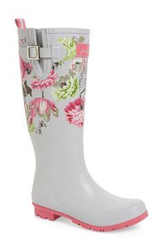 Joules Floral Rain Boots