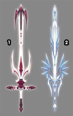 by Rofeal on DeviantArt Fantasy Sword, 3d Fantasy, Armas Ninja, Sword Design, Anime Weapons, Weapon Concept Art, Anime Outfits, Sword Art, Sword Drawing