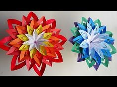 How to make an Paper Flower. Very easy and simple steps with color paper. Background Music : Real World by Silent Partner. If you like my video please don't . Paper Flowers Craft, Origami Flowers, Flower Crafts, Paper Crafts, Diy Home Decor Easy, Home Decor Signs, Easy Diy, Merry Christmas To You, Xmas