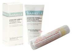 Barielle Porcelain Skin Brightening Cream with Bonus Organic Lip Balm in Spearmint by Barielle. $18.50. Leaves your skin nourished, protected and completely balanced.. Advanced formula is enriched with oils, a multifruit complex of Apha Hydroxy Acids and is hydroquinone free. Safe and effective for age spots, freckles, unevenness of skin color and other discolorations of the skin. Includes Bonus Vegan Organic Lip Balm in Spearmint. This advanced formula is enriched with ...