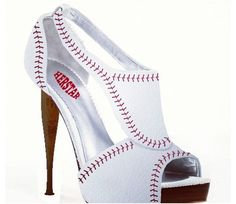 HERSTAR™ Women's Baseball High Heel (baseball high heels, baseball shoes, baseball womens apparel) Different! Baseball High Heels, Baseball Shoes, Baseball Mom, Baseball Fashion, Softball Fans, Football, Phillies Game, Baseball Girlfriend, Baseball Park