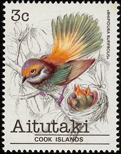 Rufous Fantail stamps - mainly images - gallery format